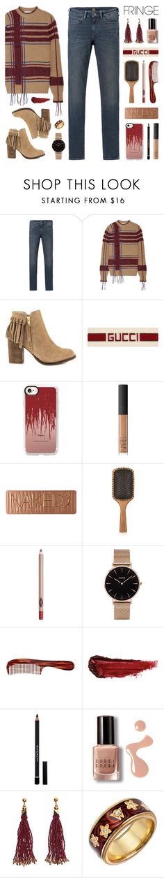 """Shimmy Shimmy: Fringe"" by lgb321 ❤ liked on Polyvore featuring Lee, Tory Burch, ALDO, Gucci, Casetify, NARS Cosmetics, Urban Decay, Aveda, Charlotte Tilbury and CLUSE"