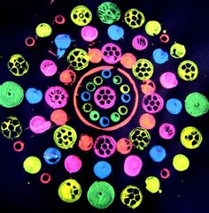"""Printing with bright colours on a black background by Kaylee2132 ("""",)"""