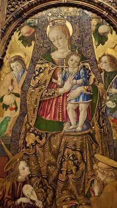 Madonna col bambino e santi francescani by Vittore Crivelli, 1481 Italian Renaissance Art, Renaissance Paintings, Catholic Art, Religious Art, Royal Art, Philadelphia Museum Of Art, Holy Mary, Madonna And Child, Italian Artist