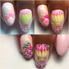 Having short nails is extremely practical. The problem is so many nail art and manicure designs that you'll find online 3d Nail Art, Nail Arts, Spring Nails, Summer Nails, Cute Nails, My Nails, Vacation Nail Art, Romantic Nails, Vintage Nails