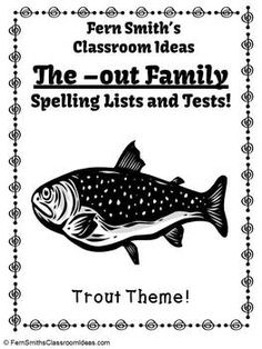 Spelling The -out Family Word Work Lists & Tests #TPT $Paid #TeachersFollowTeachers #FernSmithsClassroomIdeas