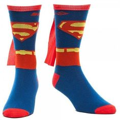 Superman 'Suit Up' Crew Socks with Cape