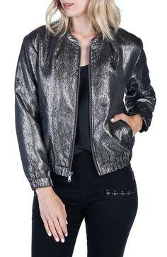 A metallic twist on a day-to-night wardrobe staple