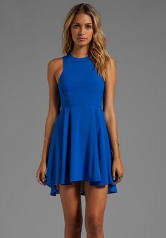Naven EXCLUSIVE Jackie Circle Skirt Dress in Vegas Blue