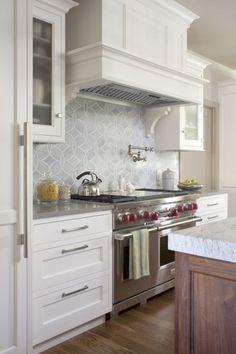 Suzie: Exquisite Kitchen Design - Gorgeous kitchen with Ann Sacks Beau Monde Glass Tiles - ...