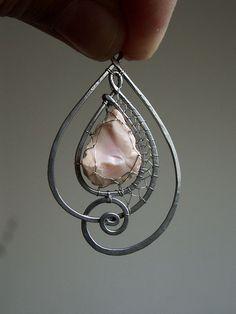 Pendant idea for unusual shaped stone, shell or sea glass