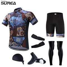 43.00$  Buy here - http://alipa9.shopchina.info/1/go.php?t=32818579837 - Surea Colorful Cycling Jersey Ropa Ciclismo Wielerkleding Cycling Clothing Bicycle Roupa Ciclismo Clothes Hombre Verano Full Set  #magazineonline