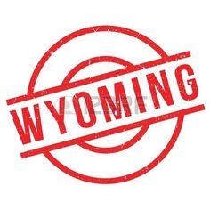 Sello de goma de Wyoming. Diseño de Grunge con los rasguños polvo. Los efectos se pueden quitar fácilmente para una apariencia limpia y nítida. En color se cambia fácilmente.
