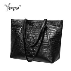 Cheap leather shoulder bag, Buy Quality brand shoulder bag directly from China fashion shoulder bags Suppliers: YBYT brand 2018 new fashion casual glossy alligator totes large capacity ladies simple shopping handbag PU leather shoulder bags Cannabis, Shoulder Handbags, Shoulder Bags, Casual Bags, Leather Handbags, Women's Handbags, Leather Bags, Leather Shoulder Bag, Pu Leather
