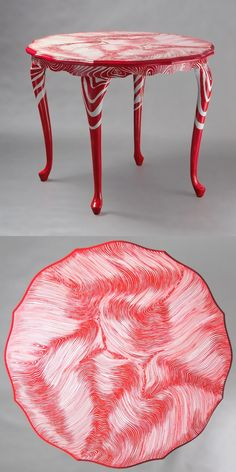 "Hand-painted Art PoPo table ""Touch Me"""