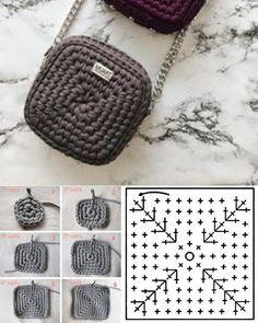 Cute Crochet, Knit Crochet, Thigh Tattoo Quotes, Crochet Coin Purse, Yarn Bag, Bag Pattern Free, Silhouette Clip Art, Leather Bags Handmade, Crochet Videos