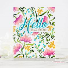 The Greetery: Fresh Floral Backgrounds (Kiwi Koncepts) Pretty Patterns, Color Patterns, Small Yellow Flowers, Pink Flowers, Distress Oxide Ink, Flower Show, Making Ideas, Stencils, Indie