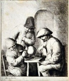 Adriaen Jansz Van Ostade (Dutch, 1610-1685). The Empty Jug (Bartsch, 15). Etching, circa 1653, on laid... Capo Auction.