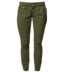 40 Weft DAVENA Chinos ($105) ❤ liked on Polyvore featuring pants, bottoms, jeans, trousers, chinos, oliv, women's trousers, green camo pants, cotton chino pants and army green pants