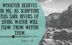 John 7:38 #cobbvineyard #verseoftheday #scripture #verse #quotes #quote #bible  #truth cobbvineyard.com