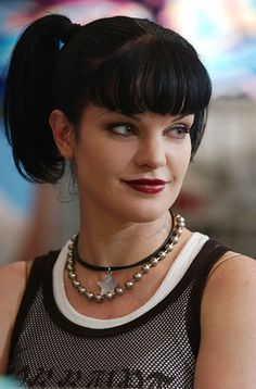 NCIS - Abby (Pauley Perrette).  Her character--Abby--is a joy!