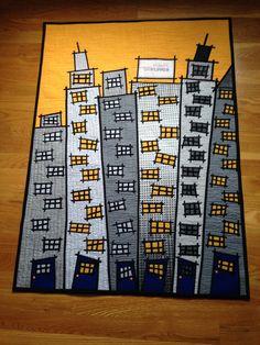 The City Skyline Art Quilt