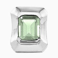 Platinum Emerald Cut Prasiolite (Green Amethyst) Pendant Gems-is-Me. $1182.25. This item will be gift wrapped in a beautiful gift bag. In addition, a 'gift message' can be added.. FREE PRIORITY SHIPPING. Save 40%!