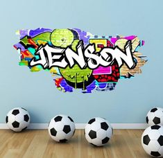 Pc Gaming Setup Discover Personalized / Customized Name Graffiti Wall Decals Stickers Mural Printed Bright Colours Adhesive sticky Name Wall Art, Name Wall Decals, Removable Wall Decals, Wall Decal Sticker, Wall Stickers, 3d Wall, Kids Play Area, Kids Room, Graffiti Bedroom