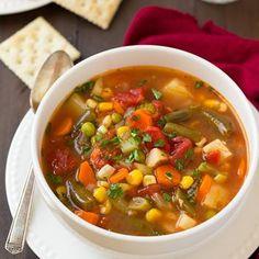 Vegetable Soup Recipe - Cooking Classy & ZipList