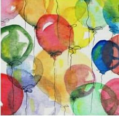 I loved all the wedding art today . Tonight and Monday, let's do illustrations of BALLOONS & BUBBLES Watercolor Cards, Watercolor Paintings, Watercolours, Balloon Illustration, Balloon Painting, Drawing Balloons, Cute Wallpapers, Art Drawings, Art Projects