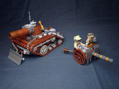 Heavy Tank Yak and Gun by on Lego Soldiers, Lego Ww2, Lego Army, Lego Robot, Steampunk Lego, Lego Zombies, Lego Universe, Lego Creator Sets, Lego Creative