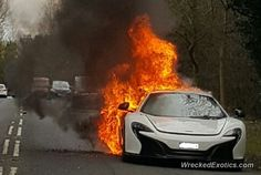 Mclaren 650S Coupe crashed in UK