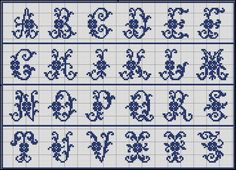 Free Easy Cross, Pattern Maker, PCStitch Charts + Free Historic Old Pattern Books: Sajou No 51 Abc Letra, Easy Cross, Cross Stitch Alphabet, Pattern Books, Cross Stitching, Embroidery Patterns, Tapestry, Letters, Chart
