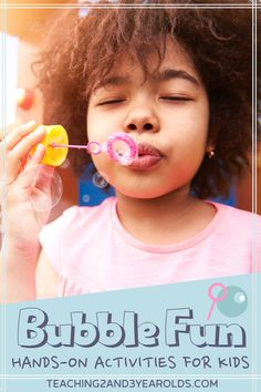 Learn how to put together amazingbubble activities for toddlers and preschoolers! Here are 12 easy and fun ideas that create bubbles of all sizes, indoors and out. #bubble #toddlers #preschool #play #summer #water #age2 #age3 #age4 #teaching2and3yearolds Bubble Activities, Hands On Activities, Preschool Activities, Activities For 2 Year Olds, Summer Activities For Kids, Kids Bubbles, Bubble Fun, Fun Outdoor Games, Toddler Behavior