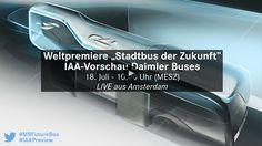"""Die Zukunft ist nah, bereits heute. Heute ab 10 Uhr findet die Weltpremiere des """"Stadtbus der Zukunft"""" von Daimler Buses statt. Auf der längsten BRT-Strecke (BRT = Bus Rapid Transit)…"""
