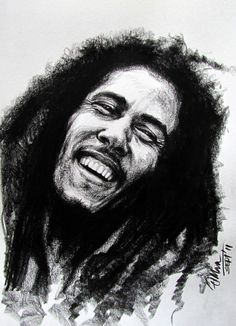 Drawings Of People Crying | Bob Marley - Pencil Jammers