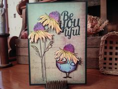 Crazy Bird 'Be-You-tiful' Any Occasion Watercolored by cardstocker