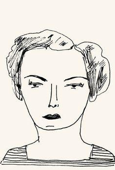 custom retro illustrated portrait by Elizabeth Graeber