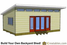Shed Plans - Shed Plans - modern studio shed plans Now You Can Build ANY Shed In A Weekend Even If Youve Zero Woodworking Experience! - Now You Can Build ANY Shed In A Weekend Even If You've Zero Woodworking Experience! Diy Storage Shed Plans, Backyard Storage Sheds, Wood Shed Plans, Shed Building Plans, Outdoor Storage, Rv Storage, Backyard Sheds, Bench Plans, Storage Ideas