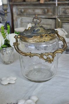 French antique biscuit jar