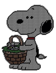 SNOOPY HOLDING EASTER BASKET - WALL HANGING