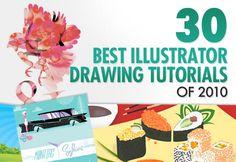 30 Best Illustrator Drawing Tutorials of 2010