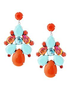 Get your fiesta on with playful and fun statement earrings. Handcrafted with Swarovski crystals and silver plating, these stunners will brighten up any outfit.