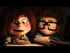 Carl and Ellie's love story from the movie Up. The best love story since the notebook.