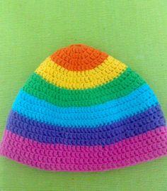 Gorro multicolor unisex en hilo de algodon
