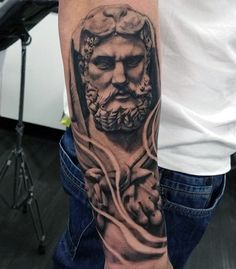 Man With Forearm Tattoo Hercules Design