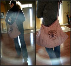 {DIY} Skirt into Purse. I have got to get my sewing machine working. This is too easy