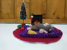 Your place to buy and sell all things handmade Fire Ready, Felt Christmas, Christmas Ornaments, Felt Mouse, Twas The Night, The Night Before Christmas, Christmas Traditions, Needle Felting, Christmas Decorations