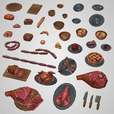 Fruit N Loot Set With over 100 objects of awesome...   Low Poly 3D Models