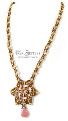 Tri-Star Necklace by Sue Charette-Hood | Bead necklace tutorial with SuperDuos and CzechMates at your local bead store
