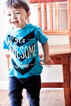 It's Awesome Time Boys Neon Blue by PrintedPalette on Etsy, $26.00
