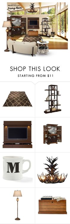 """""""living project decorate"""" by summer-marin ❤ liked on Polyvore featuring interior, interiors, interior design, home, home decor, interior decorating, Monarch Specialties, Thayer, Howard Miller and BIA Cordon Bleu"""