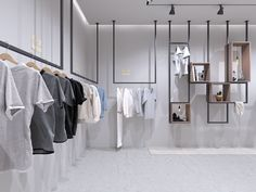 Concept store on behance kirakat ekkor: 2019 интерь Clothing Store Interior, Clothing Store Displays, Clothing Store Design, Modern Store, Retail Boutique, Boutique Interior Design, Retail Store Design, Retail Interior, Shop Interiors
