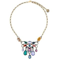 Lanvin short clustered stone necklace (1,310 CAD) ❤ liked on Polyvore featuring jewelry, necklaces, metallic, multicolor necklace, short necklaces, stone necklaces, lanvin necklace and colorful jewelry