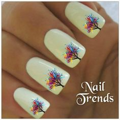 Nails with stickers
